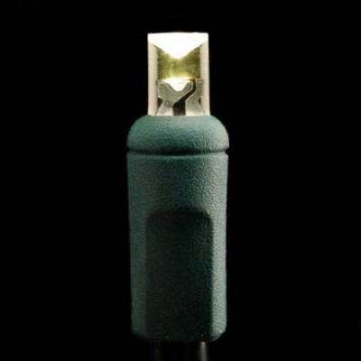 LED Craft Lights - Green Wire - Warm White Bulbs